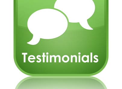 Testimonials (chat icon) glossy green reflected square button